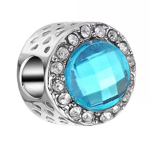 Berloque Radiante Azul - Banhado