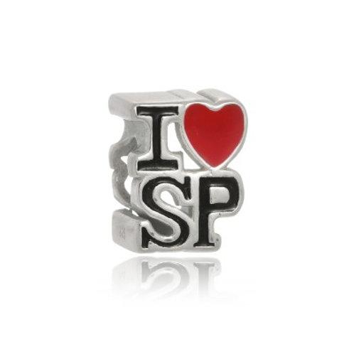 Berloque Love SP Esmaltado - Prata 925
