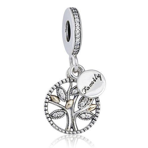 Berloque Árvore Da Vida com Zircônias - Prata 925