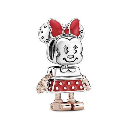 Berloque Minnie Robô - Prata 925