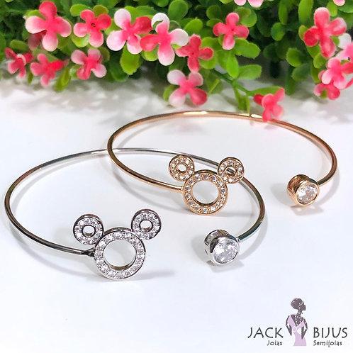 Bracelete Mickey Zirconias - Banhado