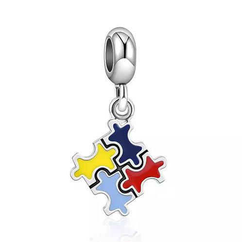 Berloque Símbolo Autismo - Banhado