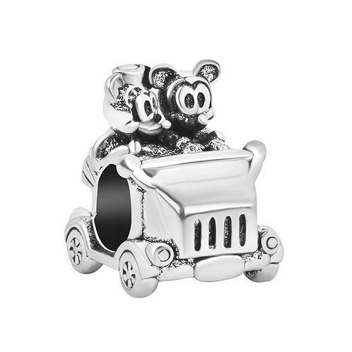 Berloque Carro Mickey e Minnie - Banhado