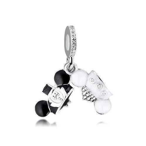 Berloque Orelhinhas Mickey e Minnie