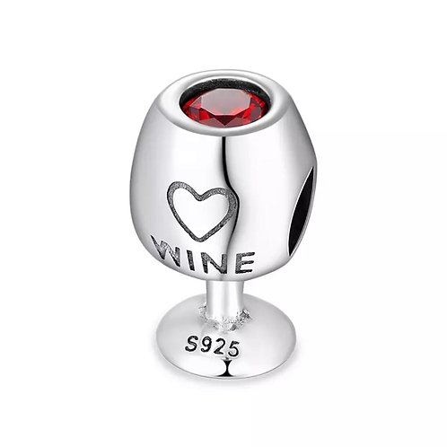 Berloque Taça de Vinho - Prata 925