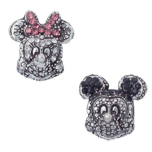 Berloque Mickey ou Minnie Brilhante - Banhado