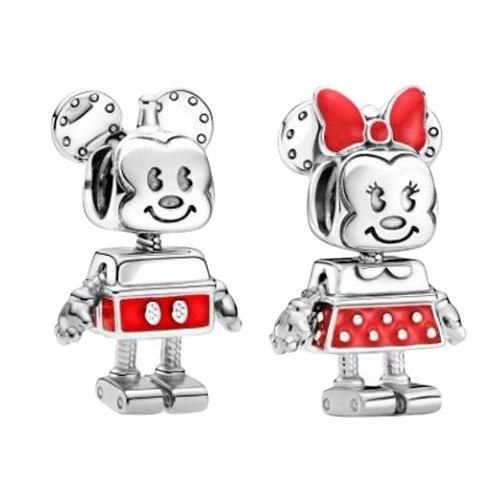Berloque Mickey ou Minnie Robô - Banhado
