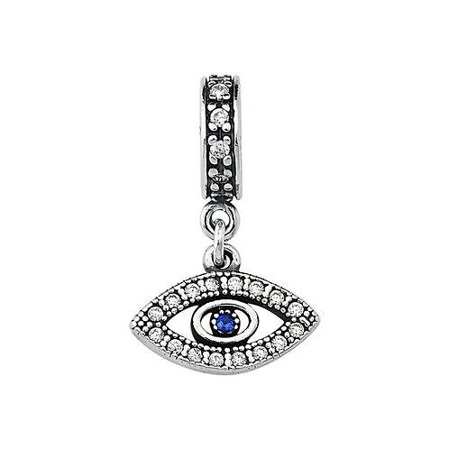 Berloque Olho Grego com Zircônias