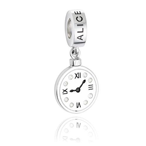 Berloque Relógio - Coleção Alice
