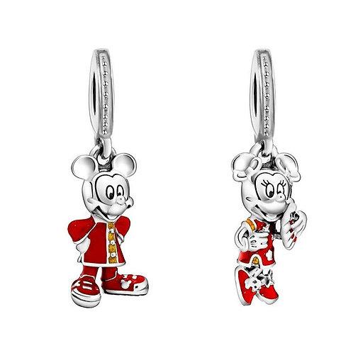 Berloque Mickey Chinês ou Minnie Chinesa - Banhado