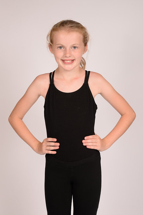 Adult Black Leotard for Mid 1s, 2s and Seniors