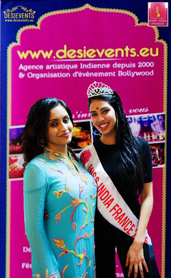 Miss India France avec Bhavna de Bharati show