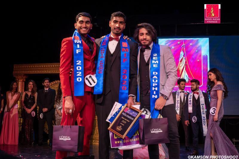 Mister India France 2020 et ses dauphins