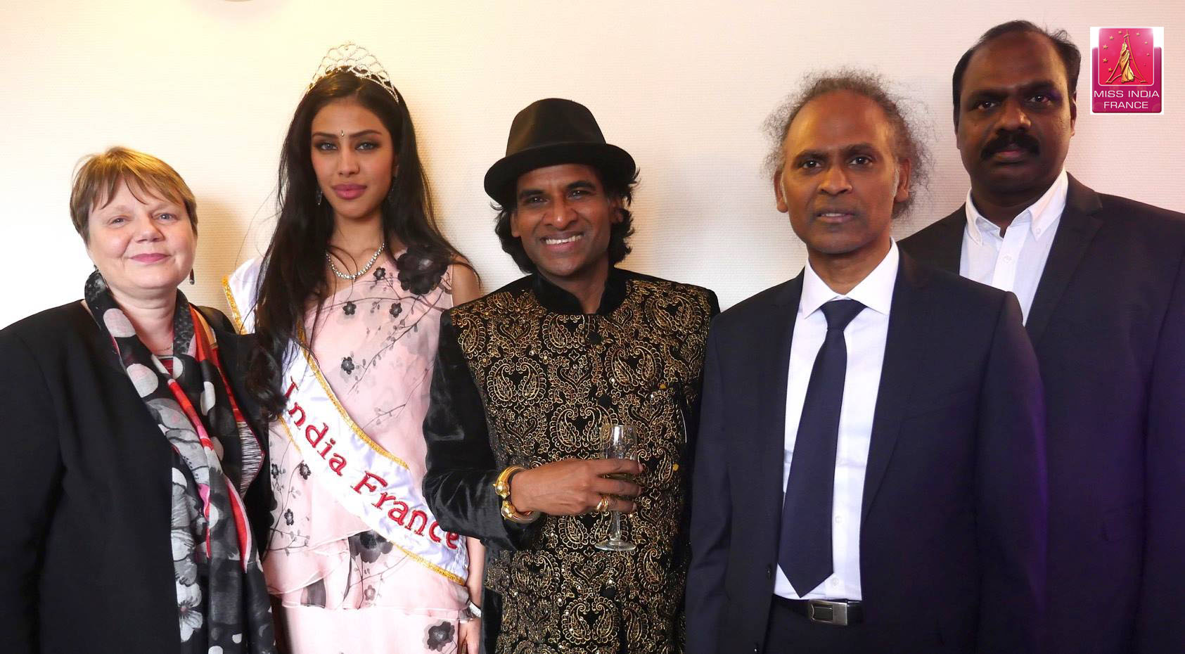 Miss India France avec Ragunath malai