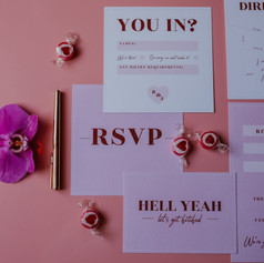 Pink Cecilia stationery suite
