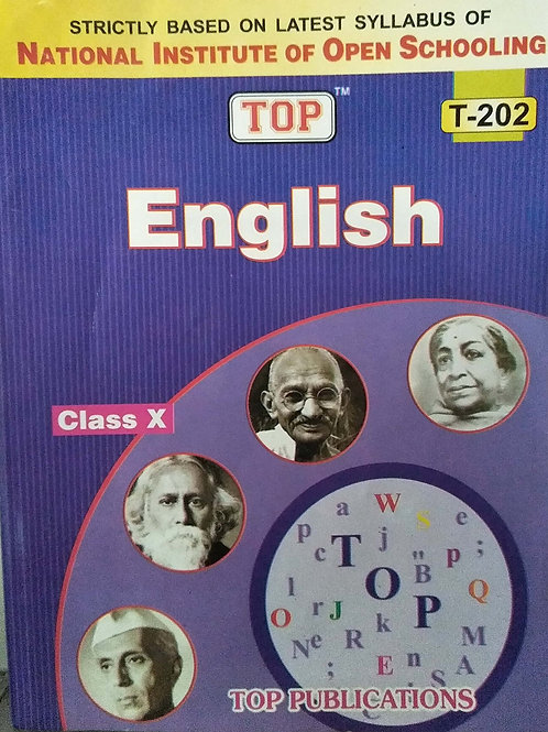 TOP NIOS English Guide Class 10 (T-202) Paperback – 1 January 2019