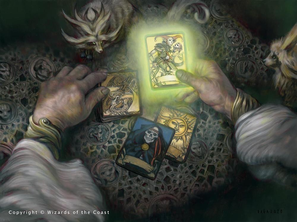 adventures in the forgotten realms art taro cards