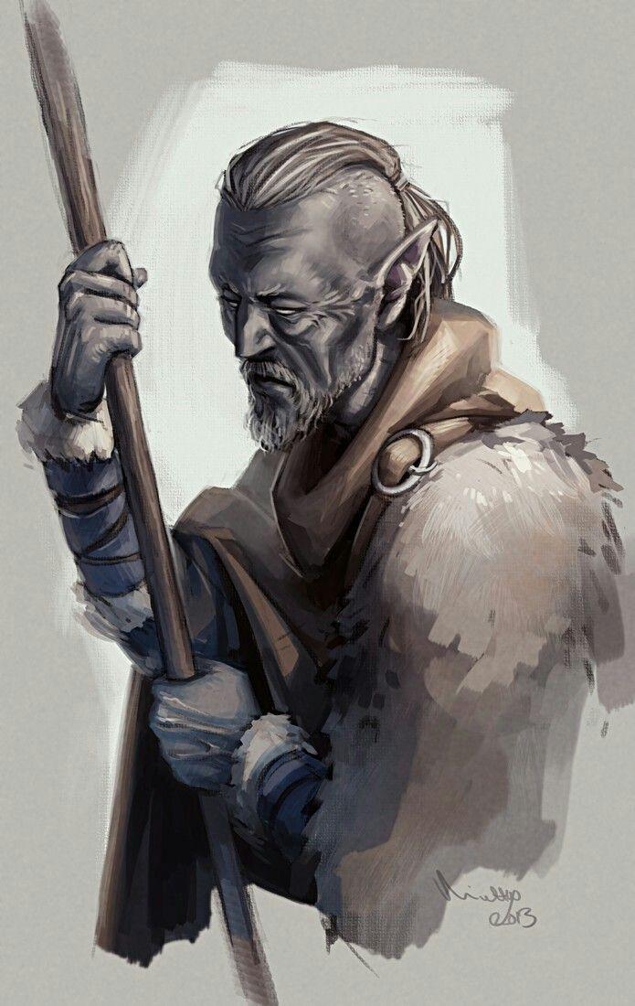 Dark elf Monk D&D