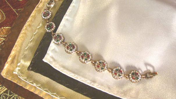 4.Bronze Cross Bracelet + 5 hankys