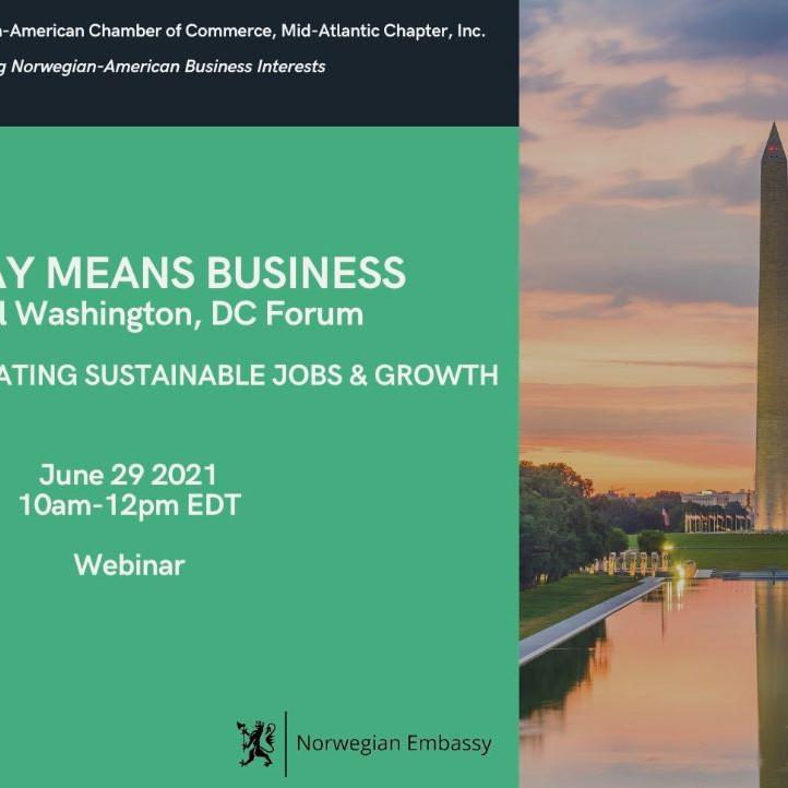 WEBINAR:  Norway Means Business   -  Annual Washington D.C Forum