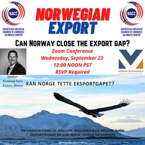 ONLINE EVENT: Norwegian Export - Can Norway Close the Export Gap?