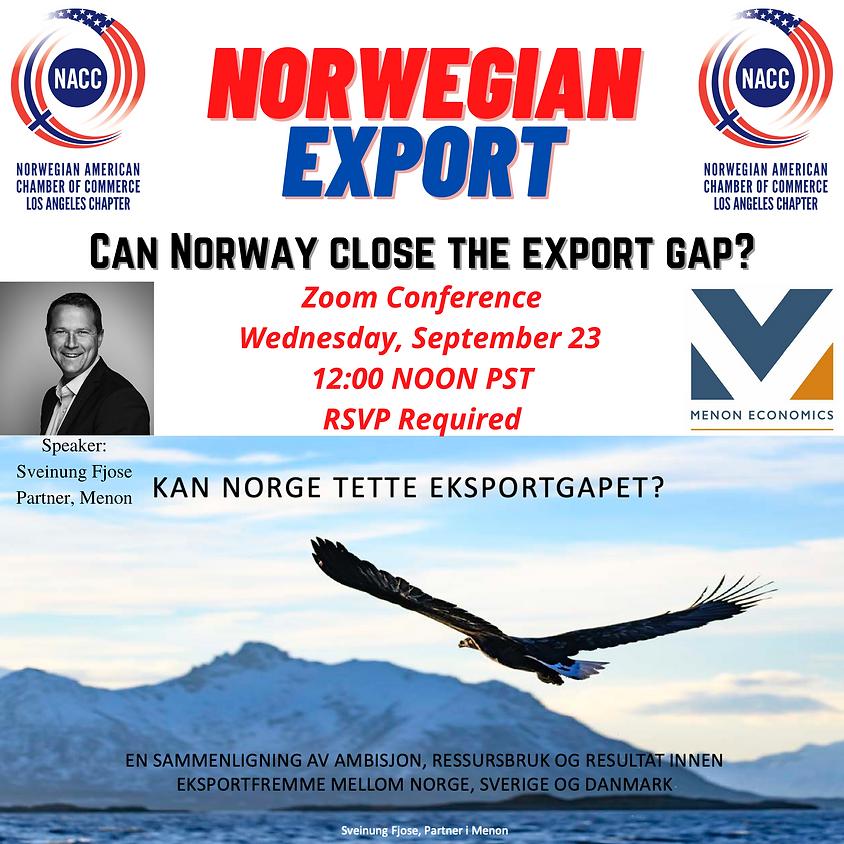 Norwegian Export - Can Norway Close the Export Gap?