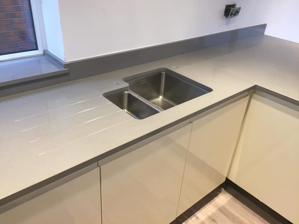 Light Grey Quartz sink