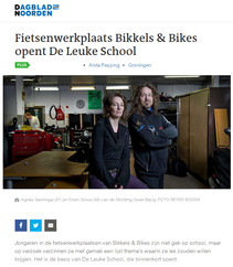 Fietsenwerkplaats Bikkels & Bikes opent De Leuke School