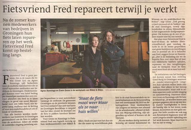 FRED staat in de krant vandaag!