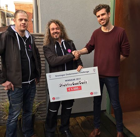 Fietsvriend FRED wint Groningse Ondernemers Challenge!