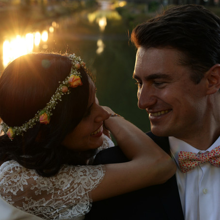 Un mariage d'été sur une péniche , avec A&J