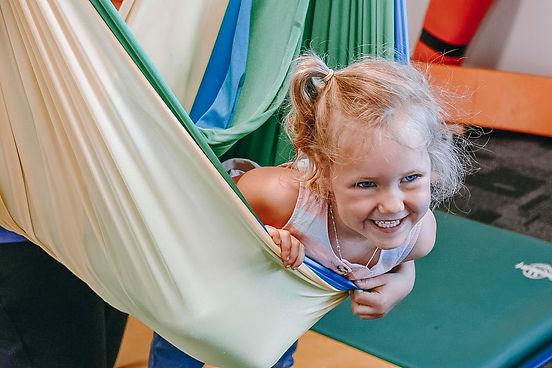 child in a hammock