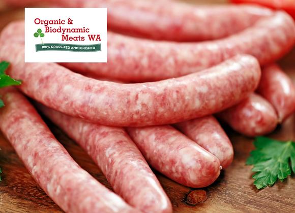 1kg Organic Beef BBQ Sausages