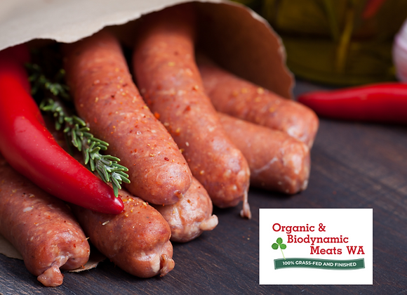 1kg Organic Lamb BBQ Sausages