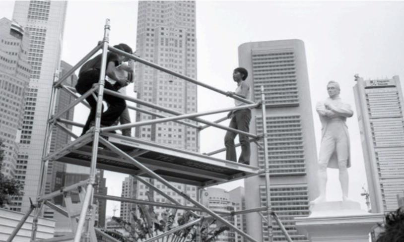 Lee Wen, Untitled (Raffles), 2000