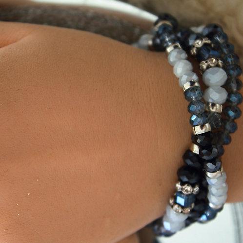 Stretch Faceted Bracelet