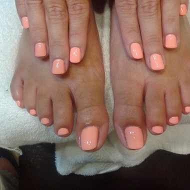 Combo Mani-gel with classic pedicure,  Never can go wrong.