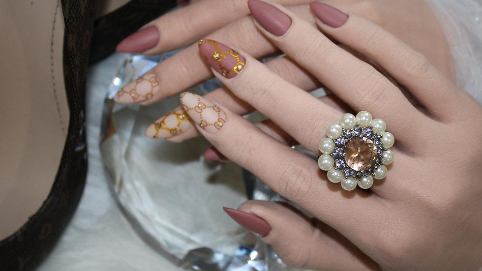Pearl Topaz Ring