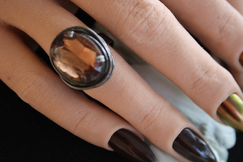 Wire wrapped Topaz Ring