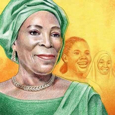 amina titi atiku-abubakar portrait