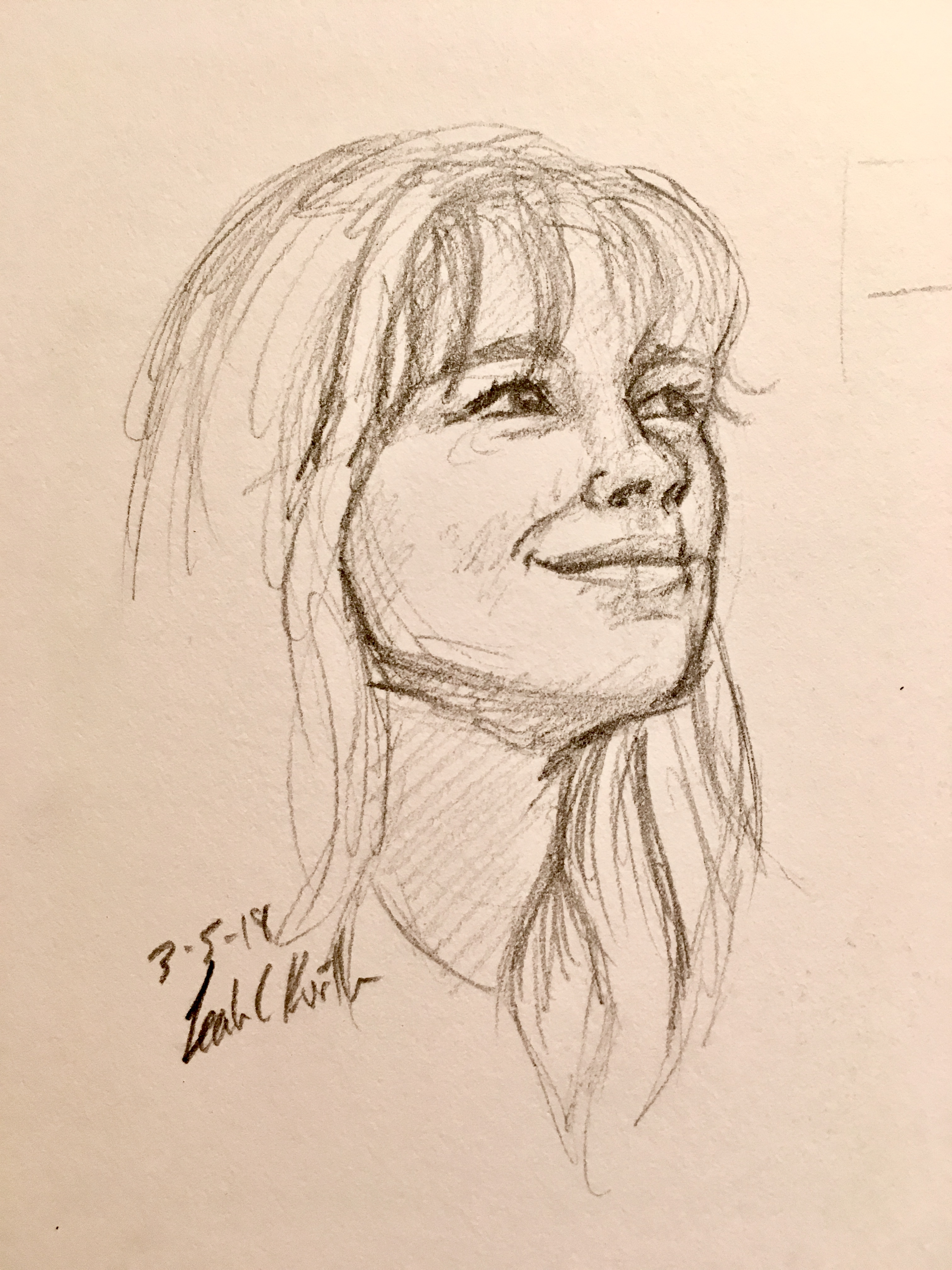 sketch of classmate from life