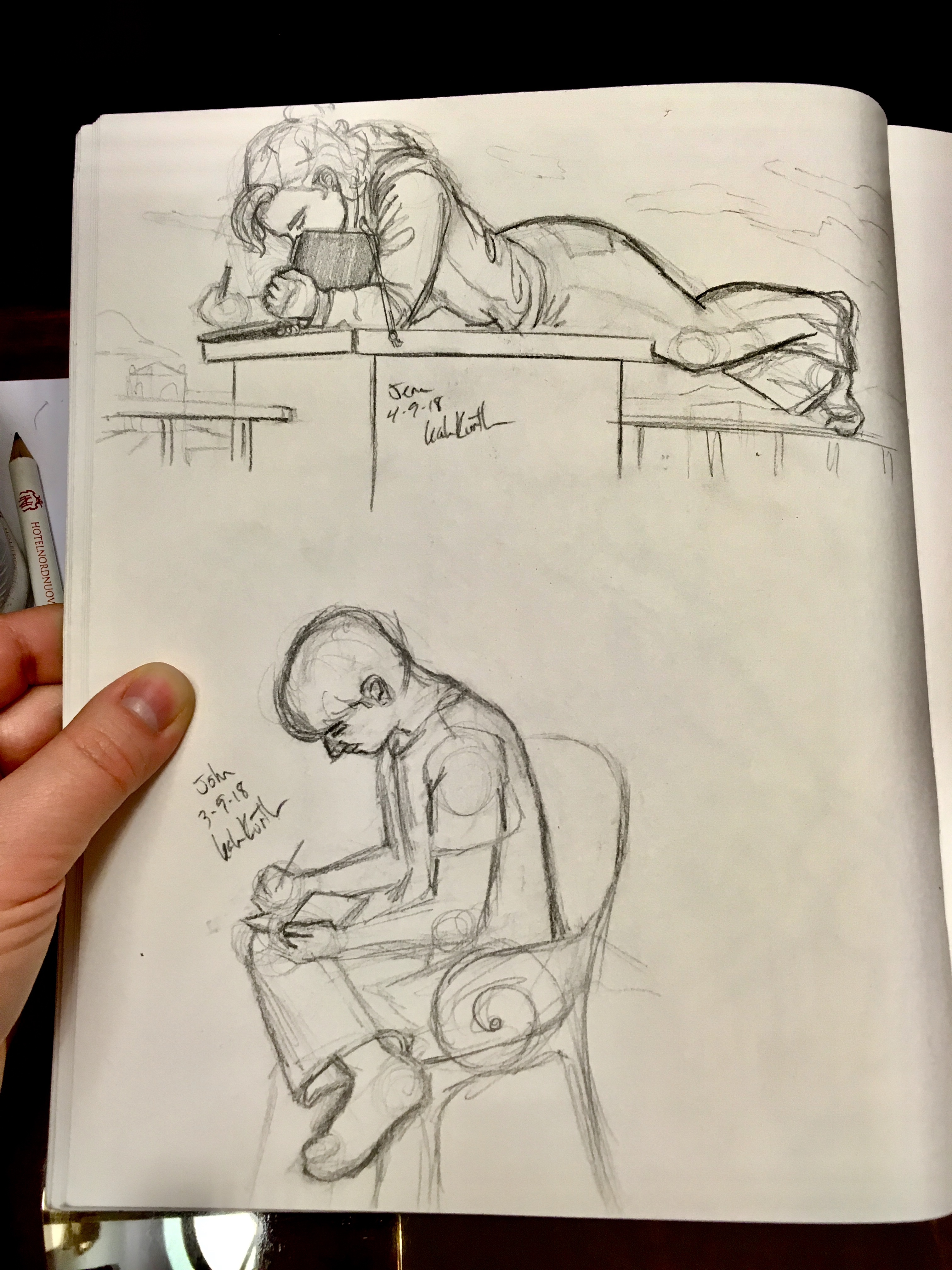 sketches of classmates from life