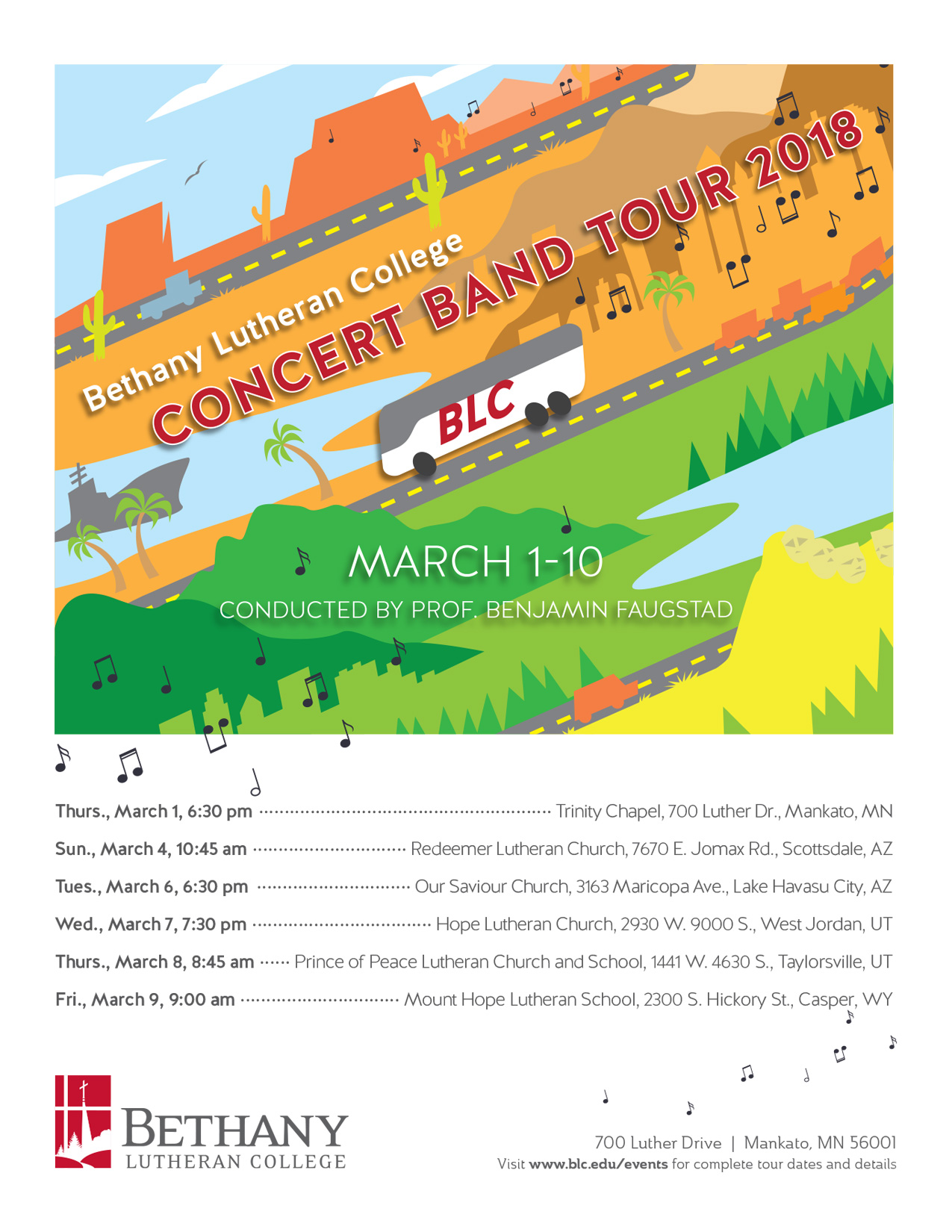 bethany band tour poster