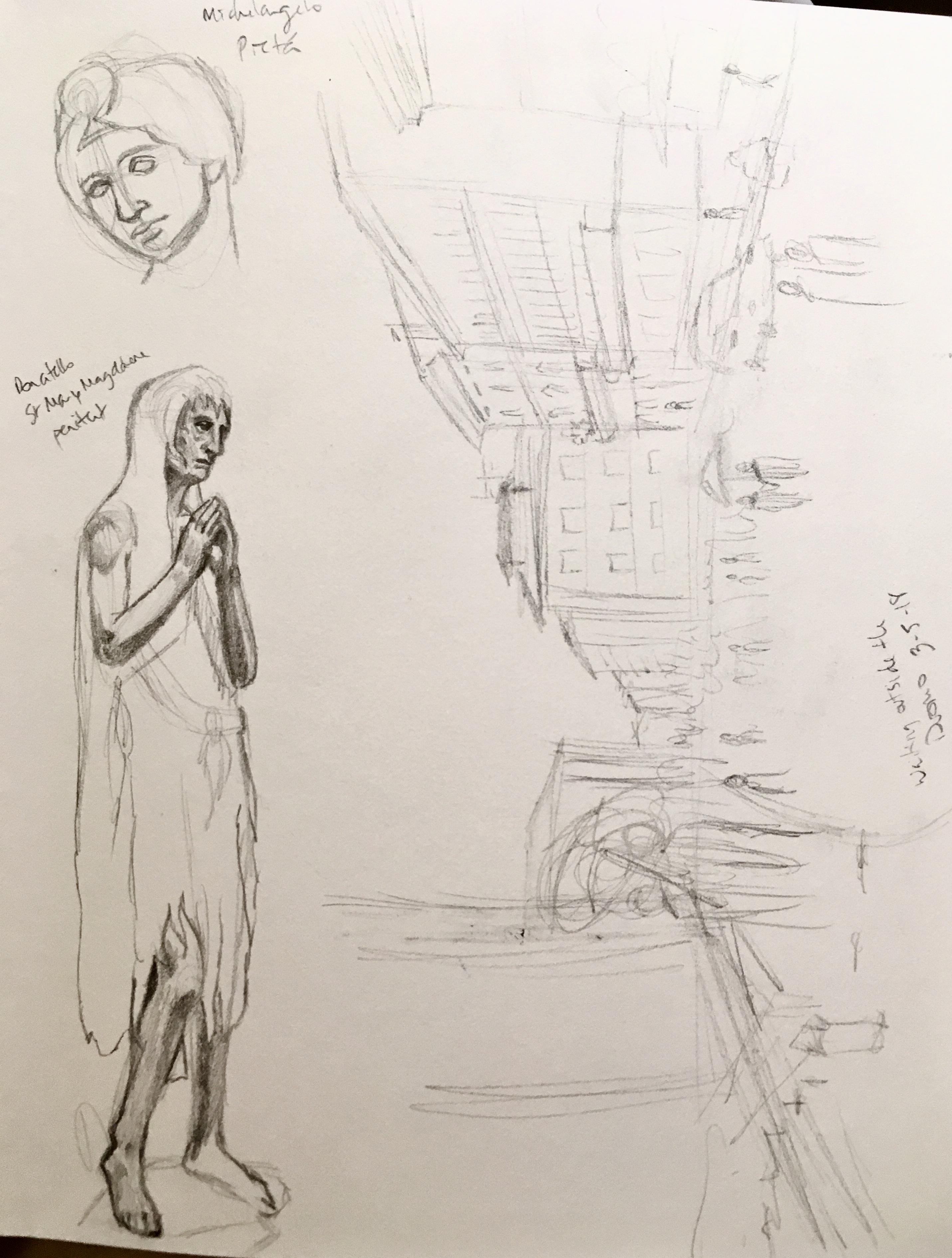 Donatello's Penitent Magdalene, street view