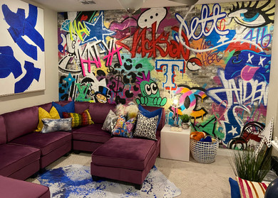 Custom Graffiti Media Room