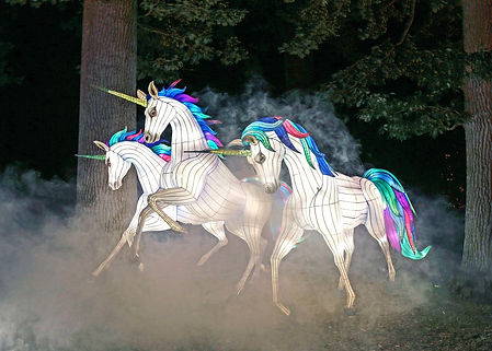Trio of unicorns at Longleat's Festival