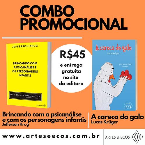 COMBO Psicanálise e Personagens infantis + A careca do galo (entrega gratuita)