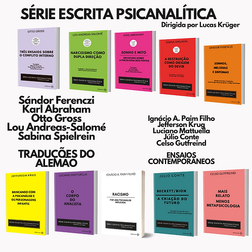 SÉRIE ESCRITA PSICANALÍTICA (10 livros) - frete gratuito + 25% de desconto