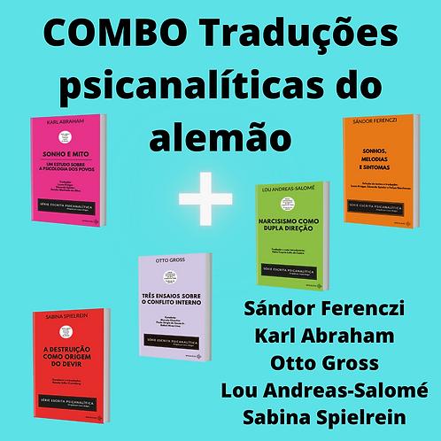COMBO traduções psicanalíticas do alemão: 5 LIVROS (+frete gratuito)