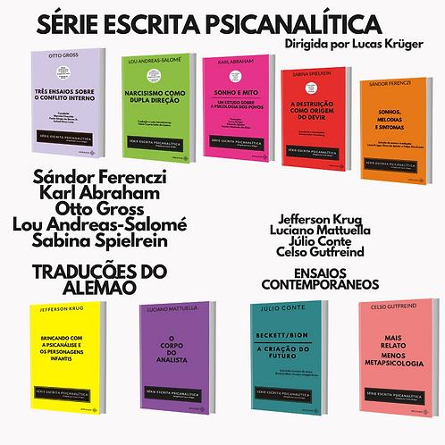 SÉRIE ESCRITA PSICANALÍTICA (10 livros)  frete gratuito + 25% de desconto
